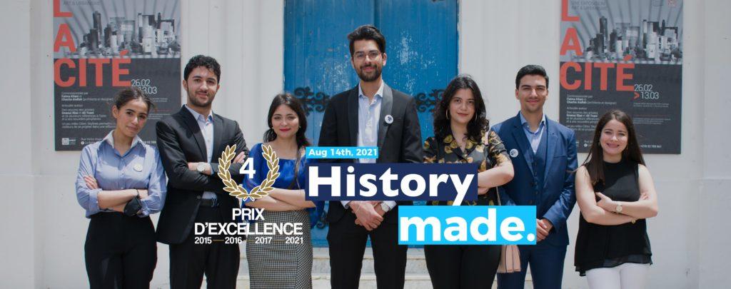 Marketing Méditerranée Tunisie est élue Meilleure Junior Entreprise en Tunisie pour cette année